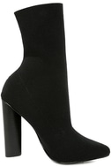 Steve Madden Capitol Black Knit Mid-Calf High Heel Boots 4