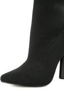 Steve Madden Capitol Black Knit Mid-Calf High Heel Boots 7