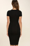Like Minded Black Bodycon Midi Dress 4