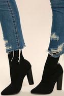 Steve Madden Capitol Black Knit Mid-Calf High Heel Boots 2