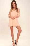 Shifting Dears Blush Pink Long Sleeve Dress 2