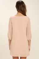 Shifting Dears Blush Pink Long Sleeve Dress 4
