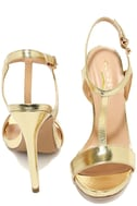 Mallory Gold Dress Sandals 3