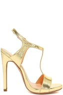 Mallory Gold Dress Sandals 4