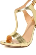 Mallory Gold Dress Sandals 6