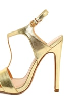 Mallory Gold Dress Sandals 7