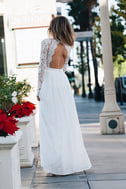 Awaken My Love White Long Sleeve Lace Maxi Dress 8