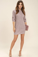 Bringing Sexy Back Mauve Backless Sweater Dress 2