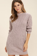 Bringing Sexy Back Mauve Backless Sweater Dress 3