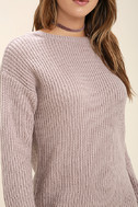 Bringing Sexy Back Mauve Backless Sweater Dress 5