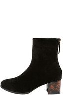 Gianna Black Suede Mid-Calf Boots 2