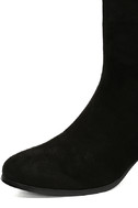 Gianna Black Suede Mid-Calf Boots 6
