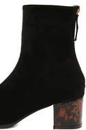 Gianna Black Suede Mid-Calf Boots 7