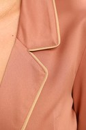 Morning Star Blush Pink Satin Long Sleeve Romper 6