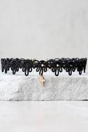 Vanessa Mooney Stella Gold and Black Choker Necklace 1