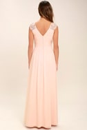 Whimsical Wonder Blush Pink Lace Maxi Dress 4