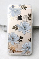 Sonix Magnolia Clear and Gold Floral Print iPhone 6 and 6s Case 1