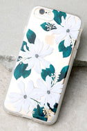 Sonix Delilah Clear and White Floral Print iPhone 7 Case 1