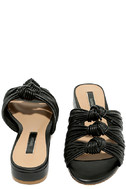 Kensie Kylee Black Knotted Slide Sandals 3