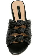 Kensie Kylee Black Knotted Slide Sandals 5
