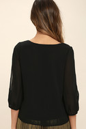 Daily Romance Black Long Sleeve Top 4