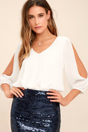 Daily Romance White Long Sleeve Top 1