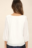 Daily Romance White Long Sleeve Top 4