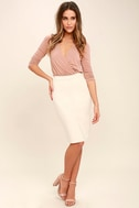 Striking Looks Blush Pink Long Sleeve Bodysuit 2