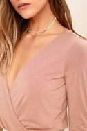 Striking Looks Blush Pink Long Sleeve Bodysuit 6