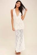 Better With You Ivory Lace Maxi Dress 2