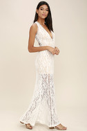 Better With You Ivory Lace Maxi Dress 3