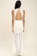 Better With You Ivory Lace Maxi Dress 4
