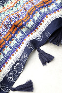 Fun and Games Navy Blue Print Scarf 2