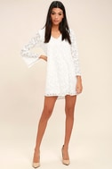 Lucy Love Wild Child White Lace Long Sleeve Dress 2