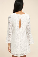 Lucy Love Wild Child White Lace Long Sleeve Dress 4
