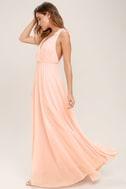 Dance the Night Away Blush Pink Backless Maxi Dress 3
