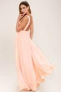 Dance the Night Away Blush Pink Backless Maxi Dress 4