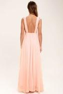 Dance the Night Away Blush Pink Backless Maxi Dress 5