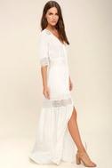 Amuse Society Last Call Ivory Lace Maxi Dress 2