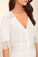 Amuse Society Last Call Ivory Lace Maxi Dress 4
