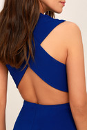 Thinking Out Loud Royal Blue Backless Jumpsuit 5