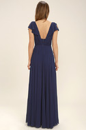 Falling For You Navy Blue Maxi Dress 4