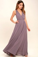 Dance the Night Away Dusty Purple Backless Maxi Dress 1
