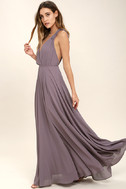 Dance the Night Away Dusty Purple Backless Maxi Dress 2