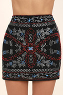 Enviable Black Beaded Mini Skirt 4