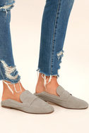 Chinese Laundry Grateful Taupe Suede Leather Slip-On Loafers 1