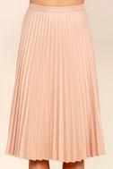 Like a Phenomenon Blush Pink Pleated Midi Skirt 5