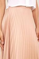 Like a Phenomenon Blush Pink Pleated Midi Skirt 6