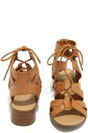 Arielle Tan Lace-Up Sandals 3