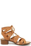 Arielle Tan Lace-Up Sandals 4